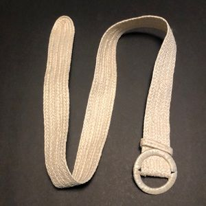 Accessories - Cream colored Straw Belt
